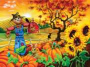 Scarecrow and Friends - 300pc Large Format Jigsaw Puzzle By Sunsout