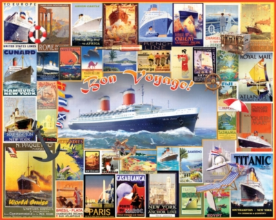 Jigsaw Puzzles - Bon Voyage Collage