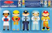 Occupations - Chunky Wood Puzzle By Melissa & Doug