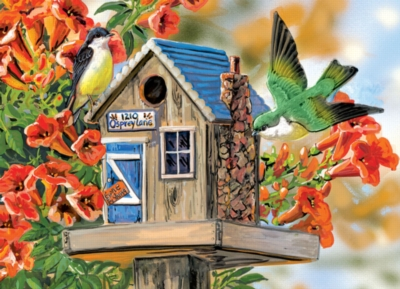 Eurographics Large Format Jigsaw Puzzles - Trumpet Vines & Tree Sparrows