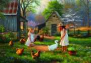Evening At Grandma's - 500pc Jigsaw Puzzle by Perre