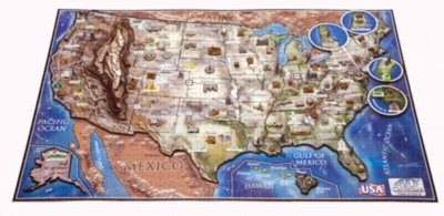 USA - 1230pc 4D Cityscape Jigsaw Puzzle