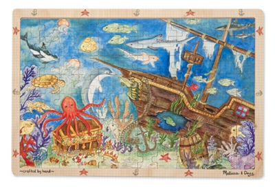 Melissa and Doug Jigsaw Puzzles for Kids - Sunken Treasures