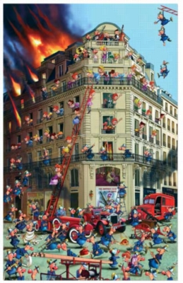 Ruyer: Fire Brigade - 1000pc Jigsaw Puzzle by Piatnik