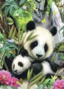 Jigsaw Puzzles for Kids - Panda Family