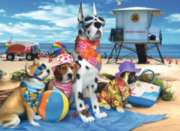 No Dogs on the Beach  - 100pc Jigsaw Puzzle by Ravensburger