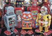 Tin Robots - 300pc Large Format Jigsaw Puzzle By Ravensburger