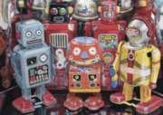 Ravensburger Large Format Jigsaw Puzzles - Tin Robots
