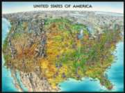 USA Map - 1500pc Jigsaw Puzzle by Ravensburger