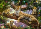 Leopard Family - 1000pc Jigsaw Puzzle By Ravensburger