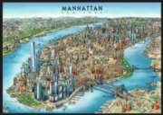 Manhattan Map - 1000pc Jigsaw Puzzle By Ravensburger