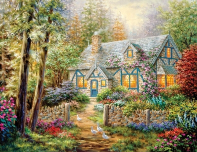 Springbok Jigsaw Puzzles - Cottage Hideaway