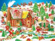 Gingerbread Fun - 400pc Family Style Puzzle by Springbok