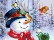 Sweet Snowman - 500pc Jigsaw Puzzle By Sunsout