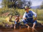 Fishing with Grandpa - 300pc Jigsaw Puzzle By Sunsout