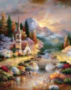A Country Evening Service - 1000pc Jigsaw Puzzle By Sunsout