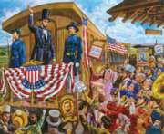 Jigsaw Puzzles - Lincoln's Train to Washington