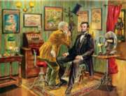 Jigsaw Puzzles - Lincoln at the Eye Doctor