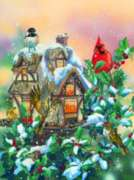 Cottage Feeder - 1000pc Jigsaw Puzzle By Sunsout