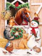 Barn Door Crowd - 300pc Jigsaw Puzzle By Sunsout