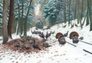 Winter Turkey Tracks - 500pc Jigsaw Puzzle By Sunsout