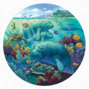 Manatee Beach - 500pc Jigsaw Puzzle By Sunsout