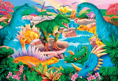 Jigsaw Puzzles - Prehistoric Waterfall
