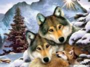 Wolf Harmony - 300pc Jigsaw Puzzle By Sunsout