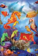 Treasure Ship Sea Horses - 500pc Jigsaw Puzzle By Sunsout