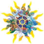 All Things Under the Sun - 600pc Shaped Jigsaw Puzzle By Sunsout