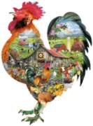 Rule the Roost - 1000pc Shaped Jigsaw Puzzle By Sunsout