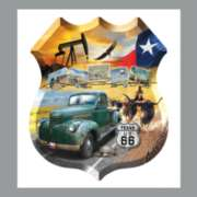 Texas 66 - 1000pc Shaped Jigsaw Puzzle By Sunsout
