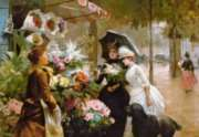 Jigsaw Puzzles - Flower Stand in Paris