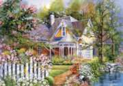 Jigsaw Puzzles - Yellow House with Picket Fence