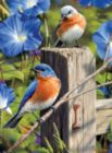 Hautman Brothers: Garden Gate Bluebirds - 1000pc Jigsaw Puzzle By Buffalo Games