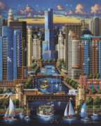 Dowdle Jigsaw Puzzles - Chicago River
