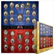 Eurographics Jigsaw Puzzles - Civil War Generals