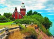 Big Bay Lighthouse, MI - 1000pc Jigsaw Puzzle by Eurographics