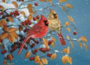 Cobble Hill Jigsaw Puzzles - Winter Cardinals