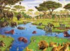 Watering Hole - 400pc Family Style Jigsaw Puzzle By Cobble Hill