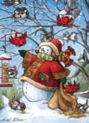 Cobble Hill Children's Puzzles - Snowman with Friends