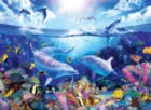 3D Extreme: Day of the Dolphins - 500pc Lenticular Jigsaw Puzzle by Masterpieces