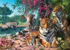 Hidden Images: Tiger Sanctuary - 500pc Glow-in-the-Dark Jigsaw Puzzle by Masterpieces