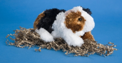 "Copper Tri-Colored - 7"" Guinea Pig By Douglas Cuddle Toy"