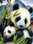 Jigsaw Puzzles - Panda and Cub