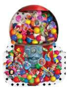 Shaped Jigsaw Puzzles - Gumballs Galore