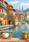Cafe at the Canal - 260pc Jigsaw Puzzle by Perre