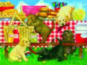 Jigsaw Puzzles - Picnic Puppies
