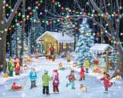 Christmas Puzzle - Woodland Skaters