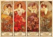 D-Toys The Precious Stones: Alfonse Mucha Jigsaw Puzzle